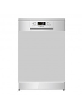 600mm Freestanding Dishwasher, LED Display, Silver finish