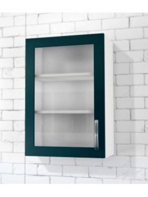 1 Glass Door Top Cabinet (Clear glass) - Right Hinged Copy